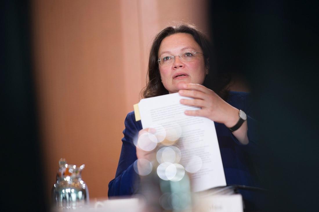 Arbeits- und Sozialministerin Andrea Nahles von der SPD.