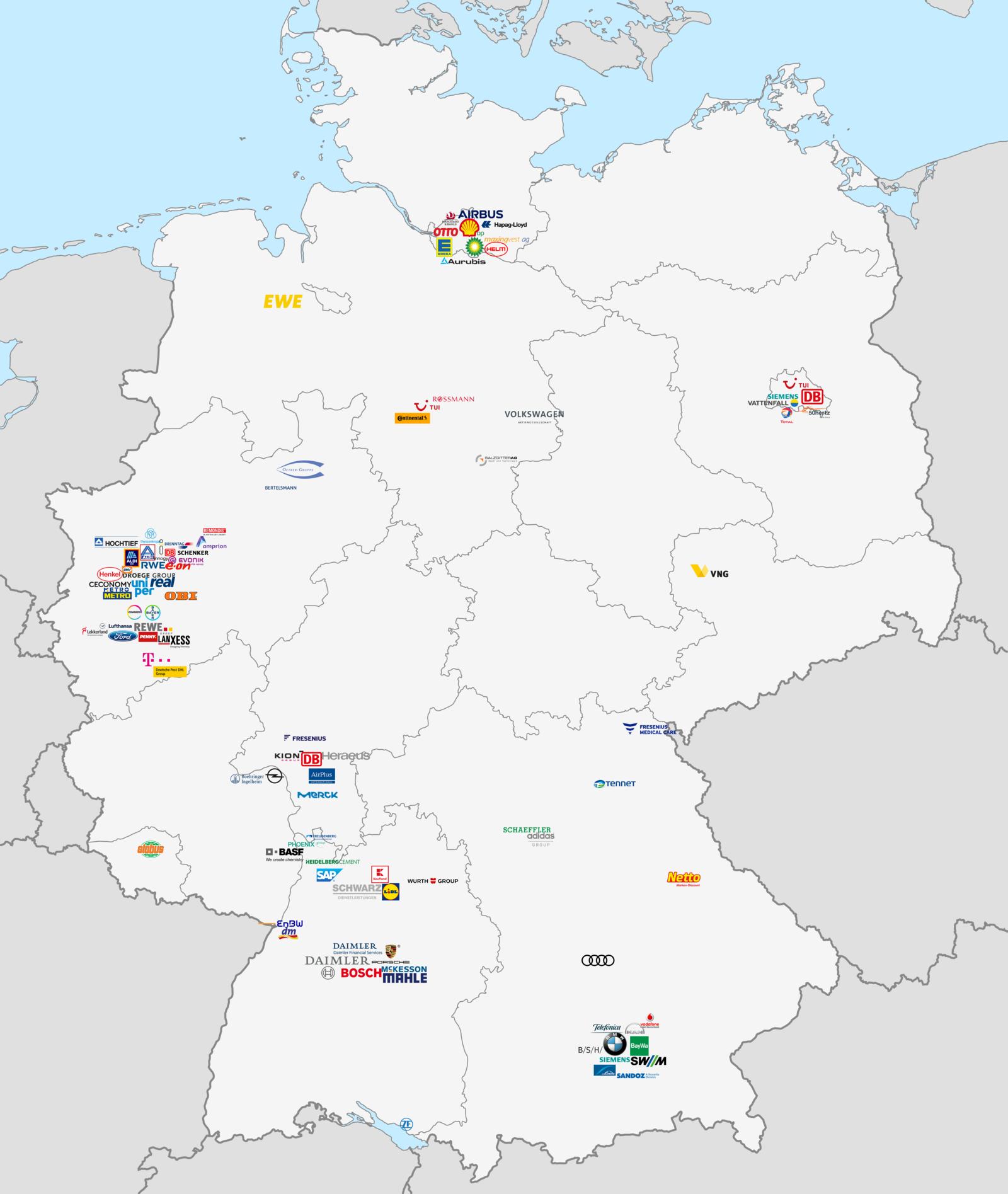 Größte Unternehmen Deutschland 2021