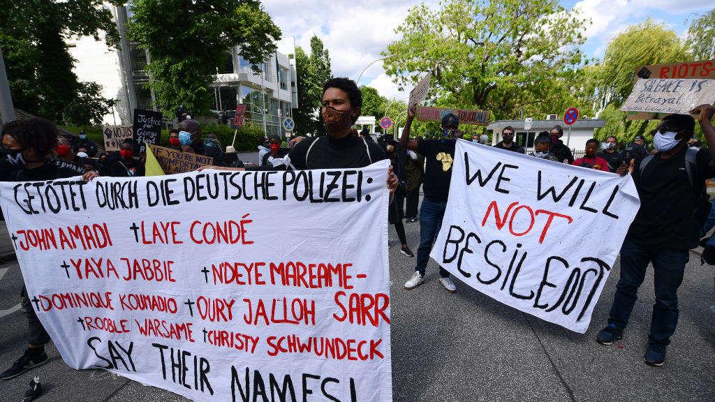 Demonstranten am 5. Juni in Hamburg.