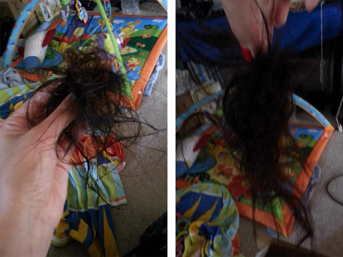 Marielas abgeschnittene Haare.