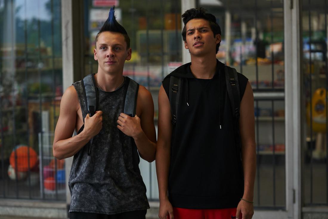 Jacob Bertrand and Xolo Maridueńa in Cobra Kai.