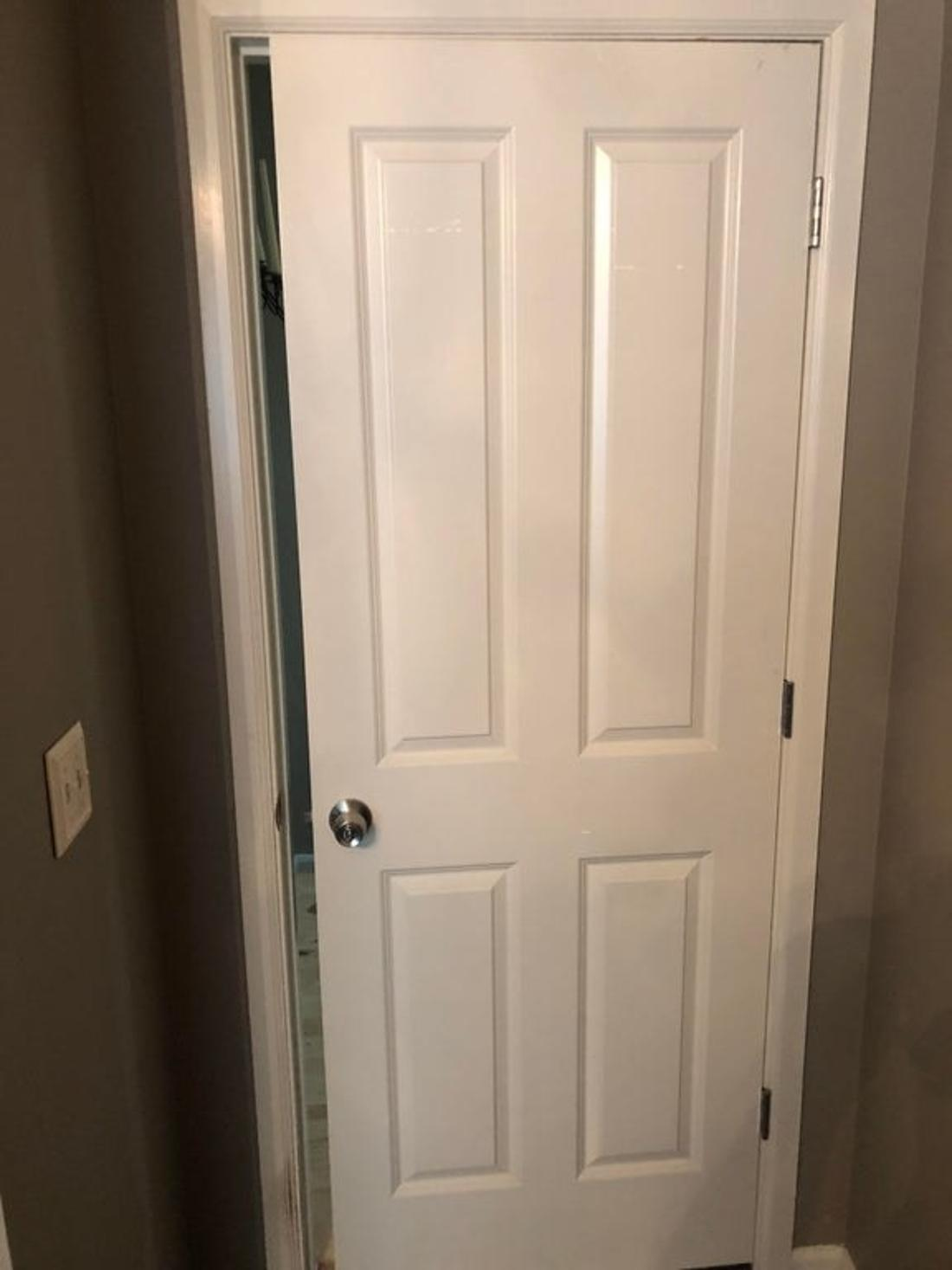 door that is too small for a frame