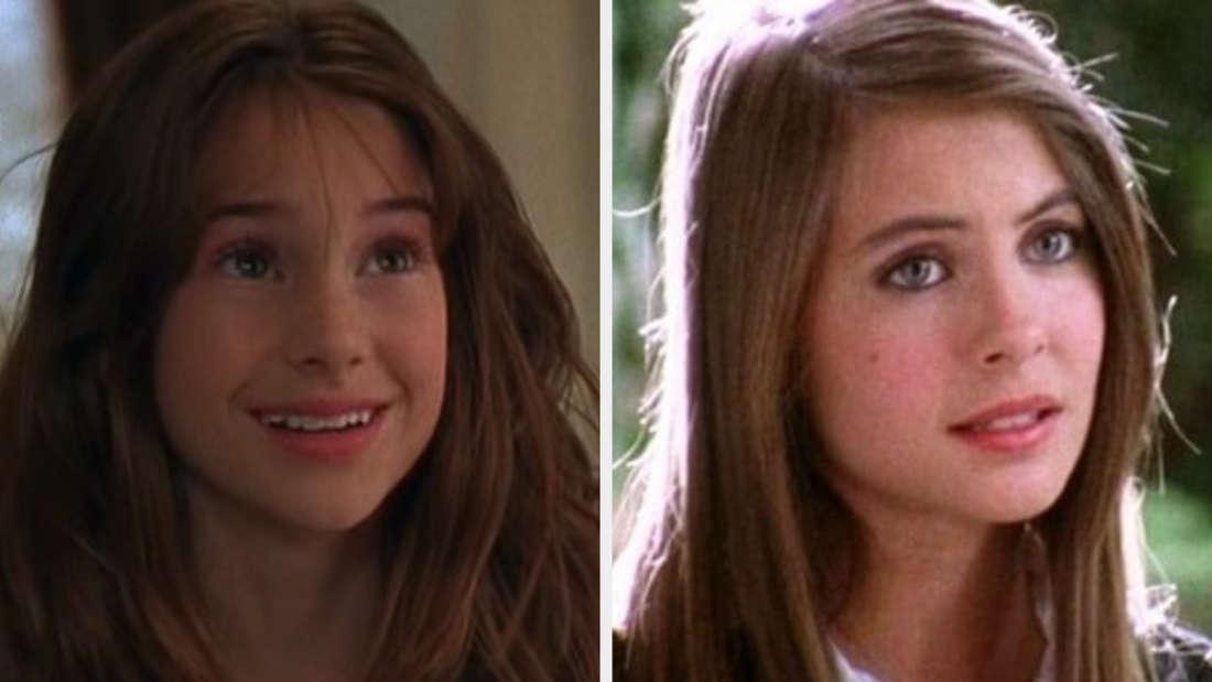 Very young Kaitlin in Season 1 vs teenager in Season 3