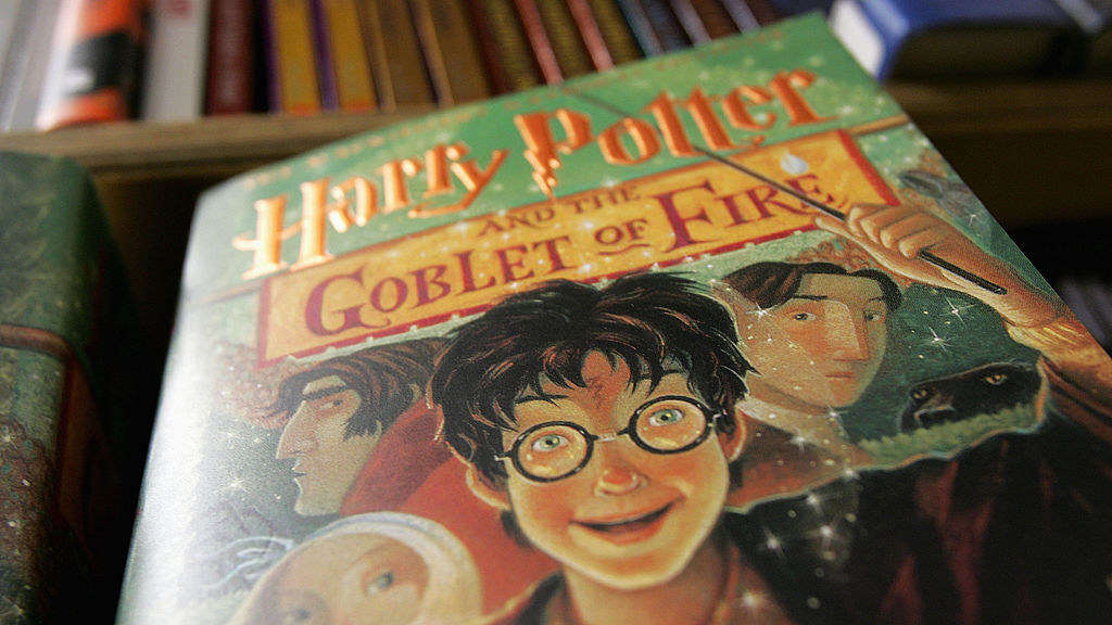 "Close-up of a copy of ""Harry Potter and the Goblet of Fire"""