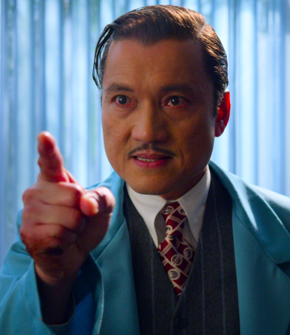 "Jon Jon Briones as Dr. Richard Hanover in the show ""Ratched""."