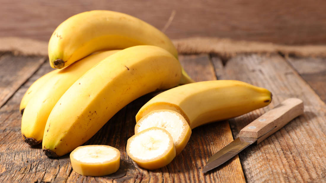 Bananas on a wooden table
