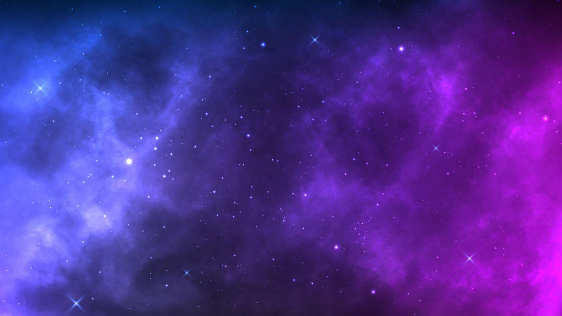 A colourful edit of space.