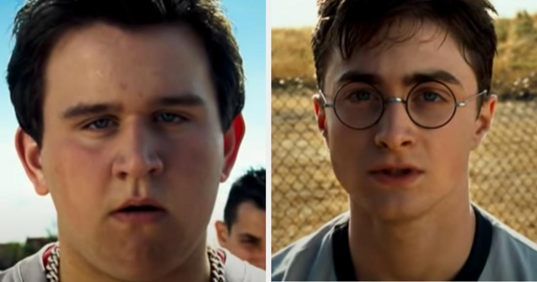 """Dudley bullying Harry in front of his friends in """"Order of the Phoenix"""""""