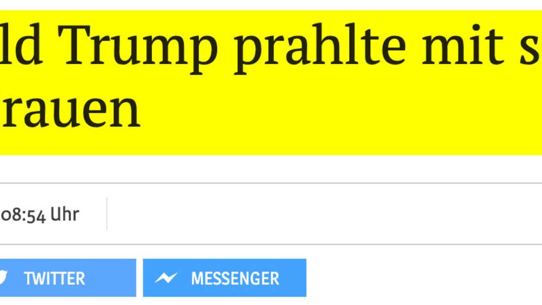 Kölner Stadt-Anzeiger: Donald Trump prahlte mit sexueller Gewalt gegen Frauen