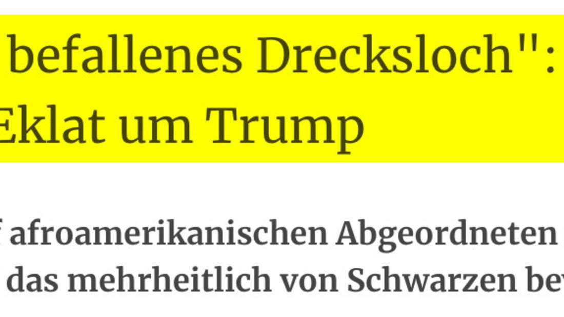 """Kurier: """"Von Ratten befallenes Drecksloch"""": Neuer Rassismus-Eklat um Trump"""