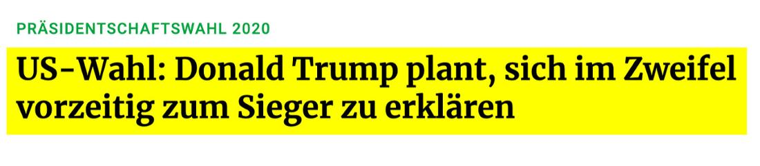 Frankfurter Rundschau: US-Wahl: Donald Trump plant, sich im Zweifel vorzeitig zum Sieger zu erklären