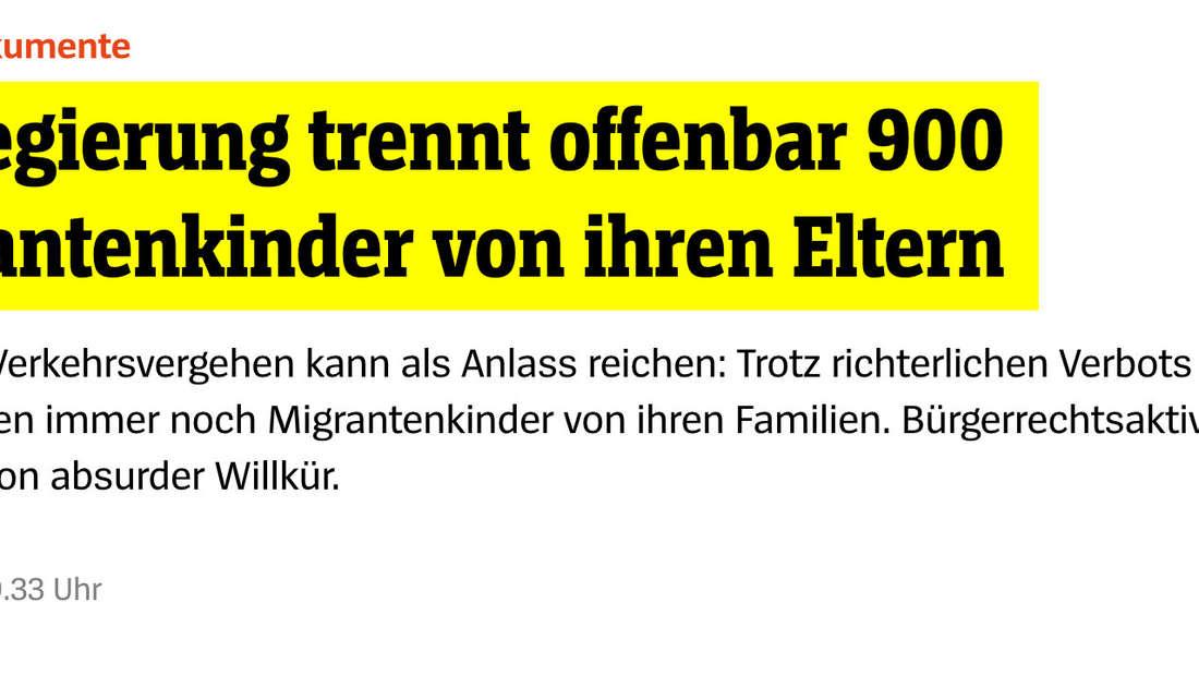 Spiegel: US-Regierung trennt offenbar 900 Migrantenkinder von ihren Eltern