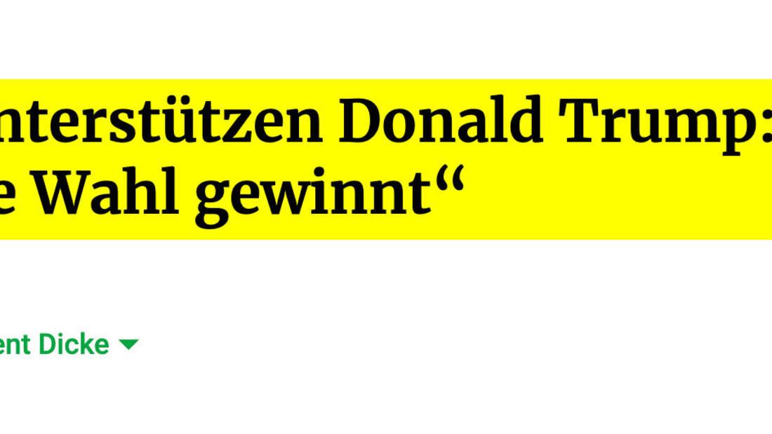 """Frankfurter Rundschau: Taliban unterstützen Donald Trump: """"Hoffen, dass er die Wahl gewinnt"""""""