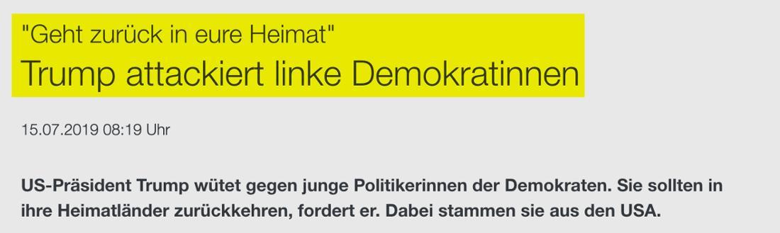 ZDF: Trump attackiert linke Demokratinnen