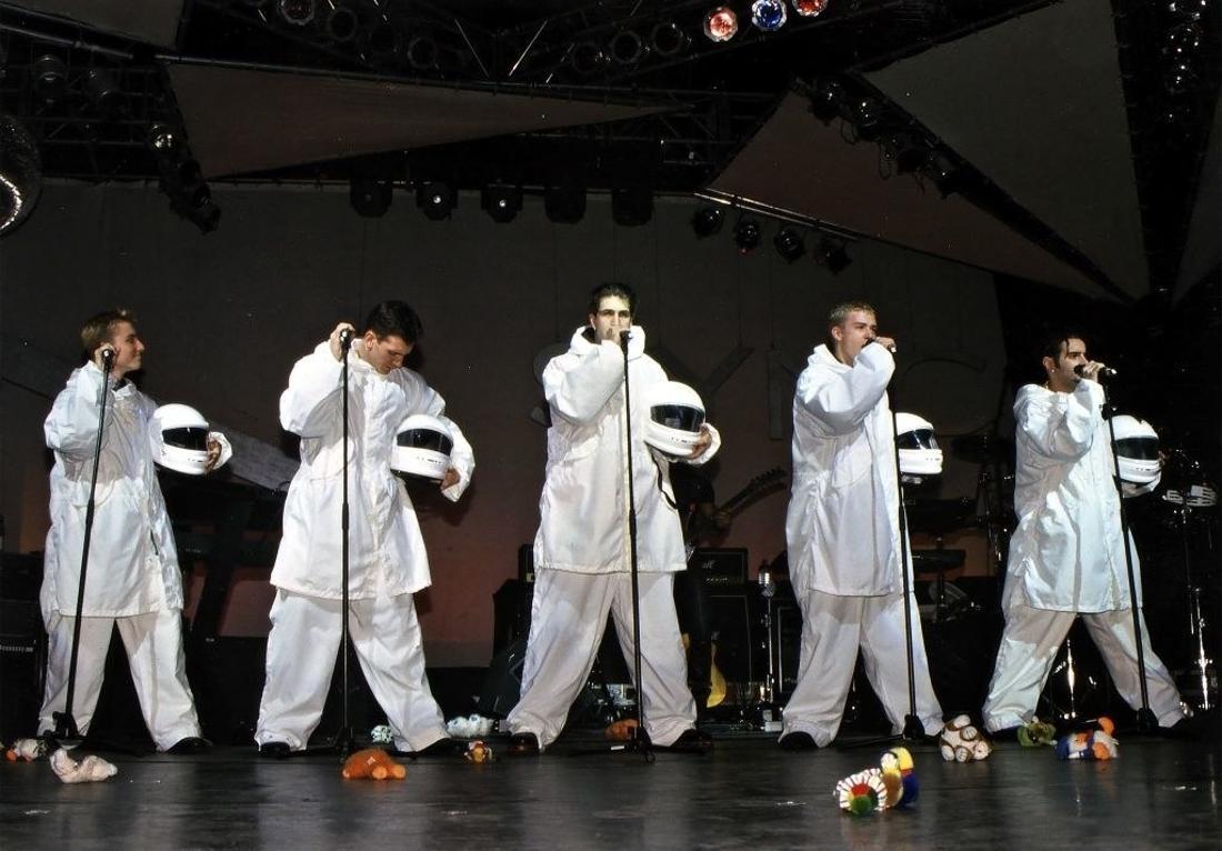 NSYNC dressed as astronauts