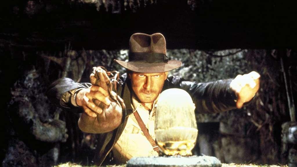 Indiana Jones in Jäger des verlorenen Schatzes.