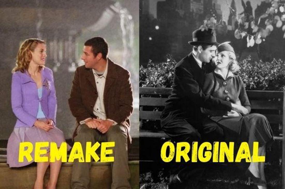 """Die Liebespaare aus den Filmen """"Mr. Deeds"""" und """"Mr. Deeds geht in die Stadt"""" bei einem Date."""