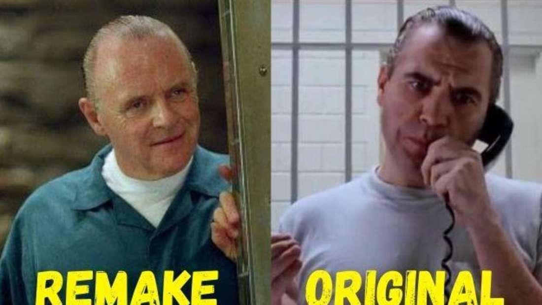 """Anthony Hopkins und Brian Cox als Hannibal Lecter in den Filmen """"Roter Drache"""" und """"Blutmond""""."""