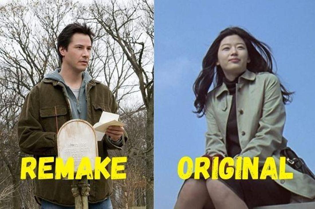 """Keanu Reeves im Film """"Das Haus am See"""" und das südkoreanische Original """"Das Haus am Meer - Il Mare"""" mit seiner Hauptdarstellerin."""