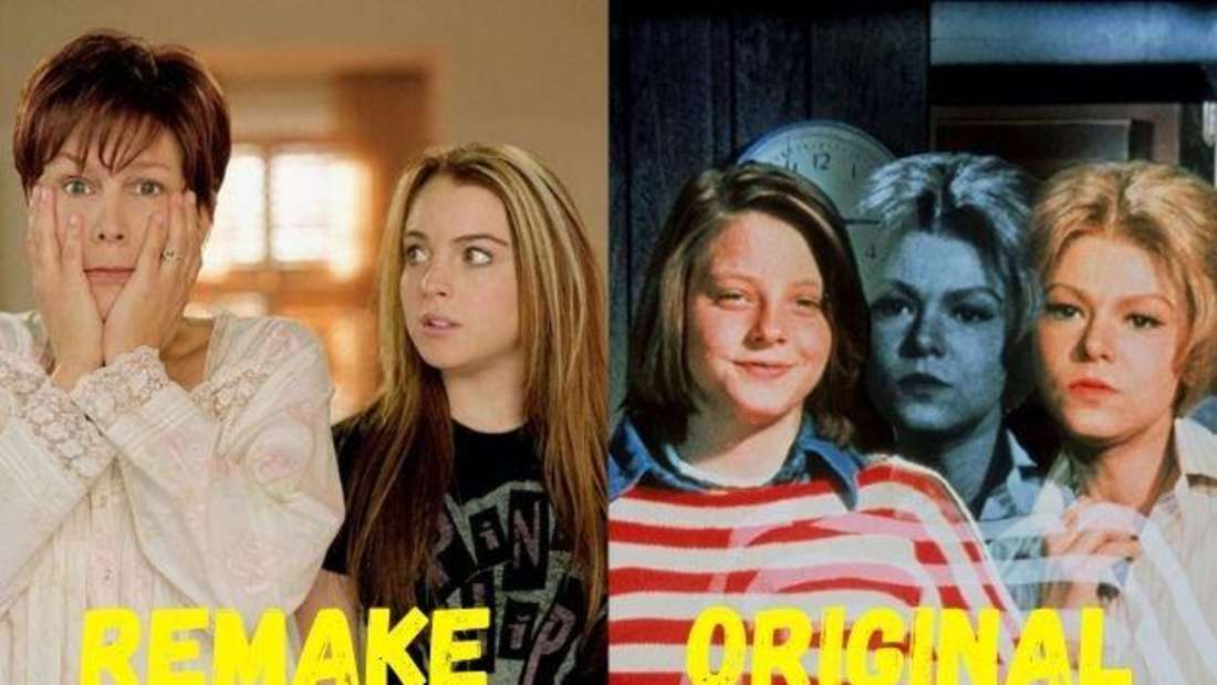 """Das Mutter-Tochter-Duo jeweils aus den Filmen """"Freaky Friday"""" und """"Ein ganz verrückter Freitag""""."""
