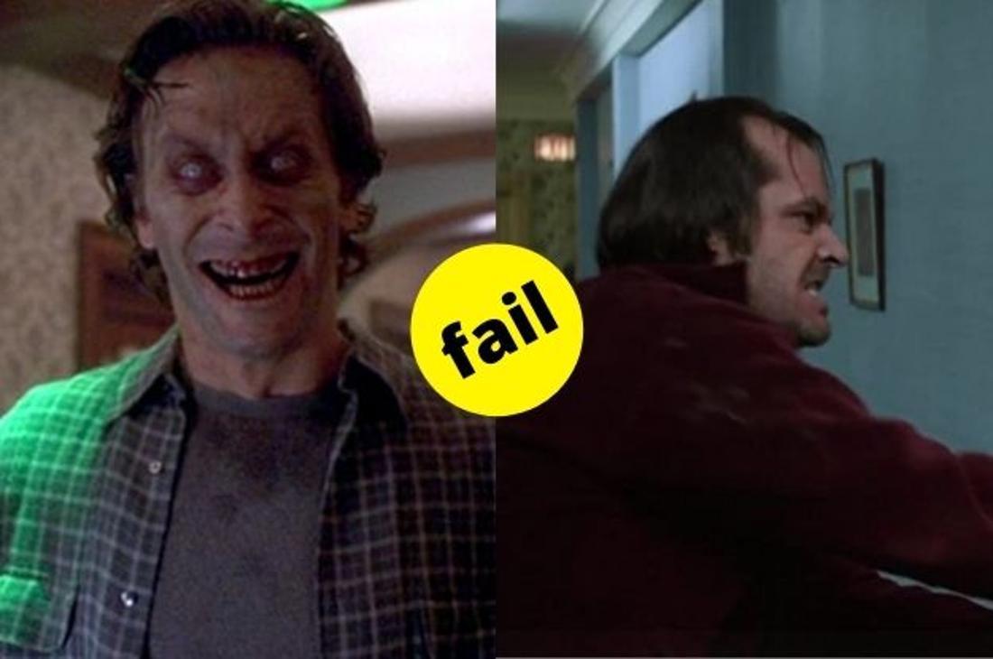 """Jack Nicholson als Jack Torrance in """"The Shining"""" von 1990 im Vergleich zu Jack Torrance aus der Neuverfilmung von 1997."""