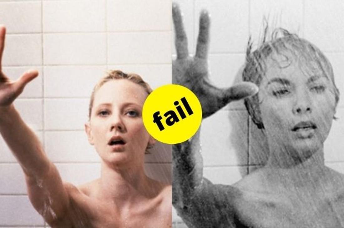 """Die zwei Darstellerinnen der Marion Crane in der Duschszene aus den Filmen """"Psycho"""" von 1998 und 1960."""
