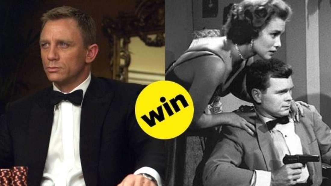 """Daniel Craig als 007 in der Neuverfilmung von """"Casino Royale"""" im Vergleich zu seinem Vorgänger Barry Nelson im Original von 1954."""