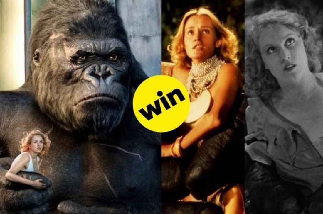 Naomi Watts, Jessica Lange und Fay Wray im festen Griff von King Kongs Faust.