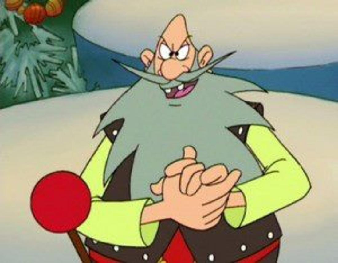 Das Bild zeigt Grantelbart aus der Serie Weihnachtsmann und Co. KG.