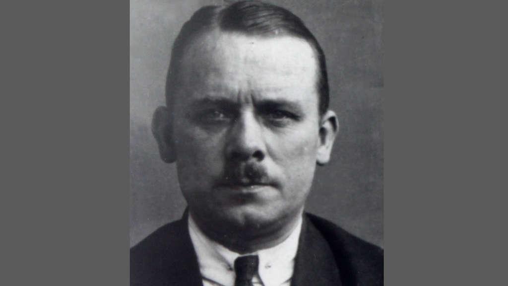 Der Serienmörder Fritz Haarmann auf einer Aufnahme der Kriminalpolizei.