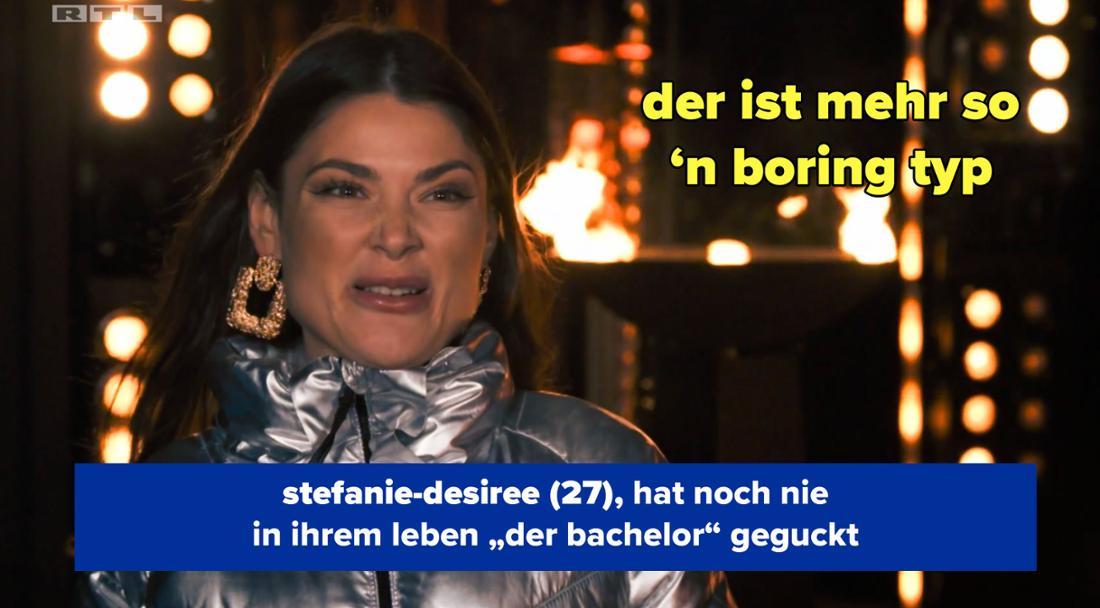 Stefanie-Desiree ist raus und beschwert sich, dass der Bachelor langweilig ist.