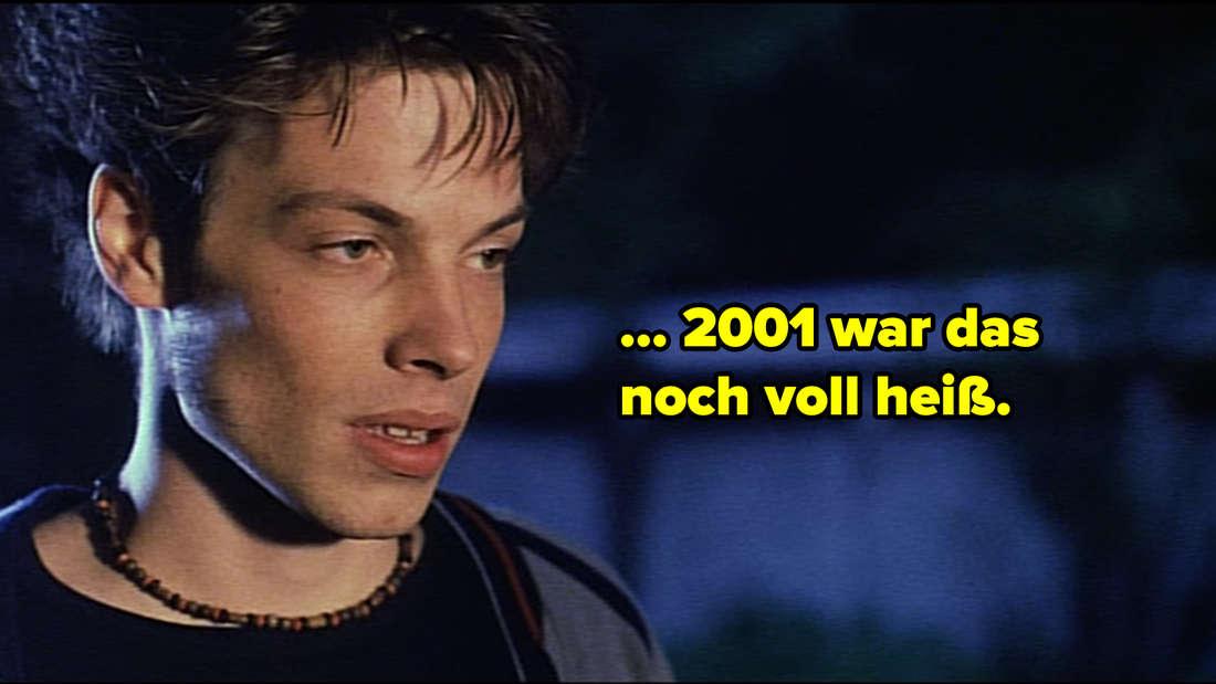 """Eine Nahaufnahme von Lenas Schwarm. Neben ihm steht: """"... 2001 war das noch voll heiß."""""""