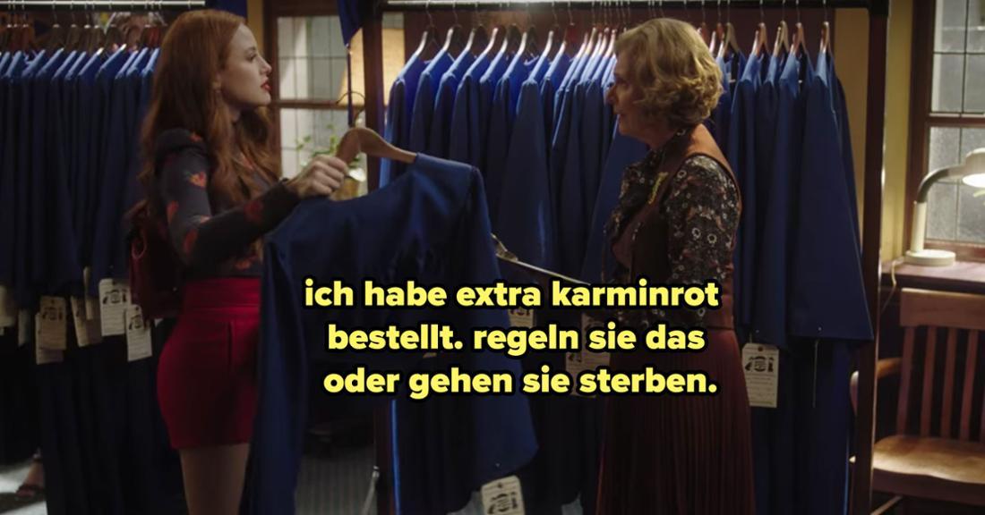 Cheryl ist unfassbar unhöflich zur Frau, die die Maße für die Roben für die Zeugnisübergabe nimmt.