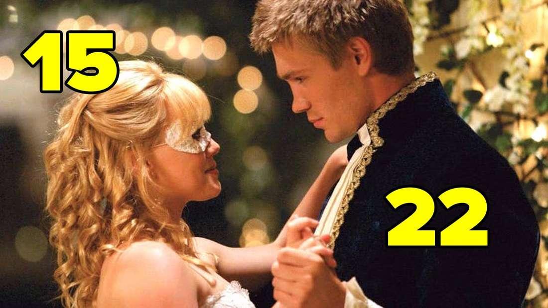 "Hilary Duff und Chad Michael Murray in ""A Cinderella Story""."