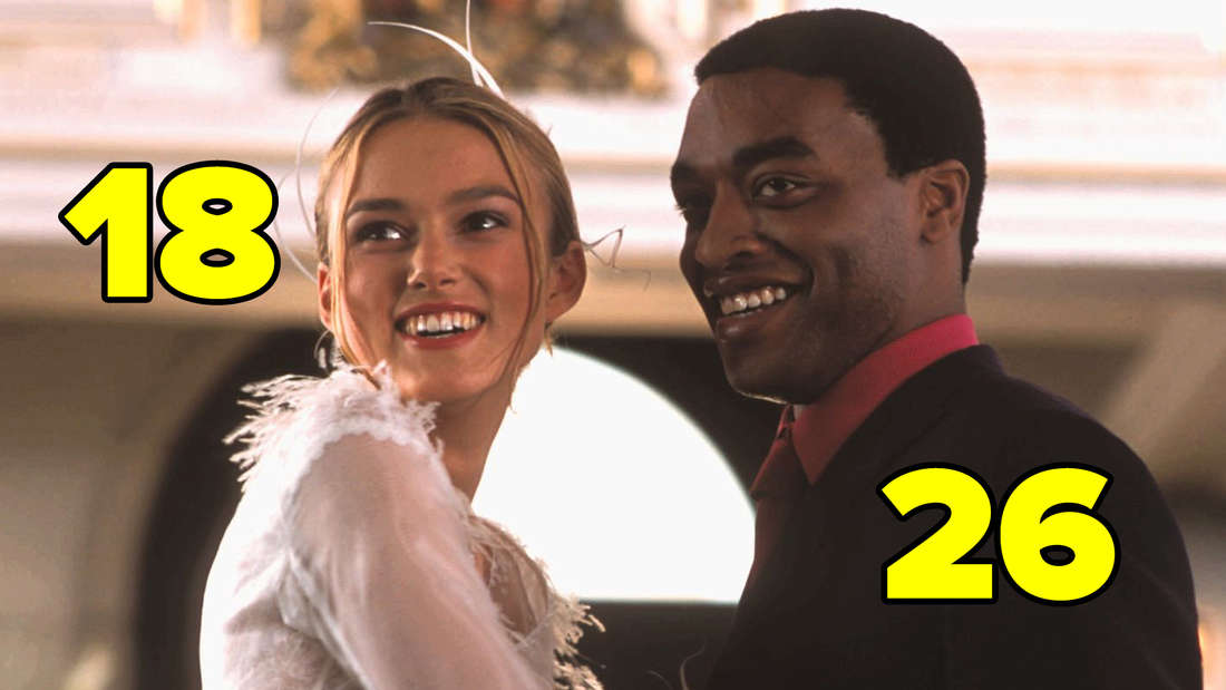 """Keira Knightley und Chiwetel Ejiofor in """"Love Actually""""."""