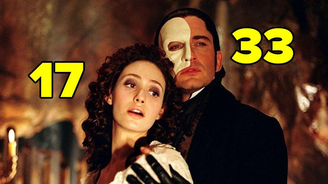 """Emmy Rossum und Gerard Butler in """"Das Phantom der Oper""""."""