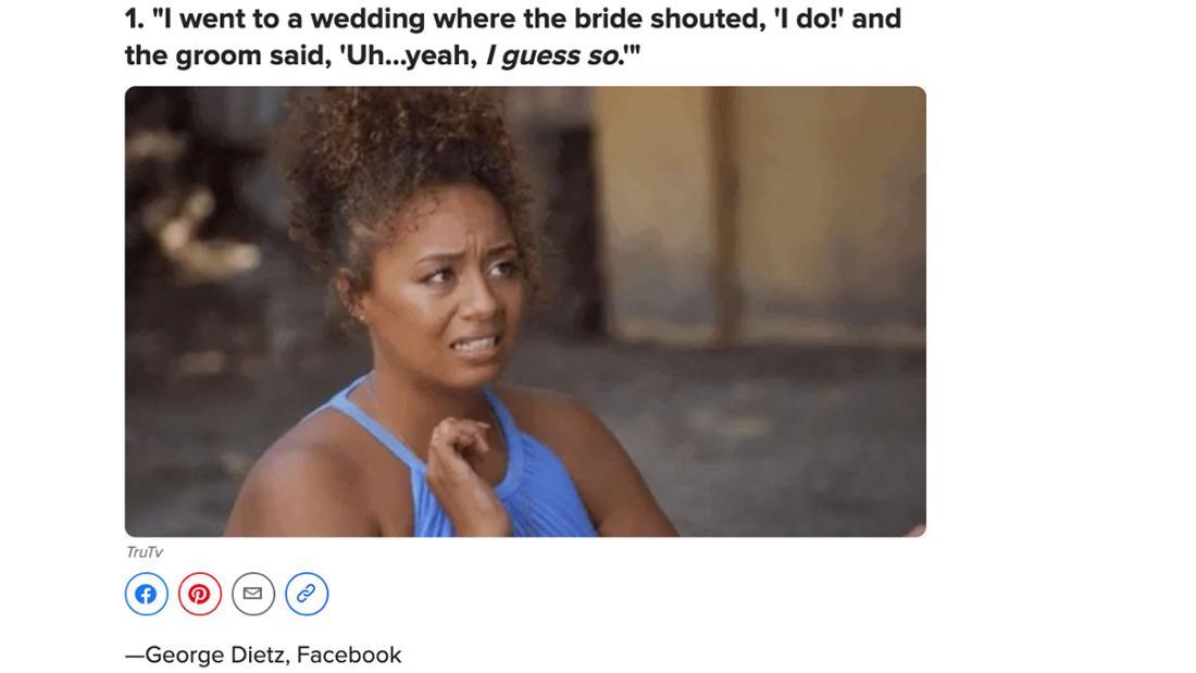 Screenshot von einem BuzzFeed Post, welcher der Vorgänger zu diesem Post ist, mit einem GIF einer entsetzten Frau und einer Antwort eines Users