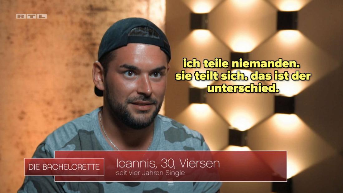 Ioannis aus der Bachelorette-Staffel, der sagt, er teile niemanden.