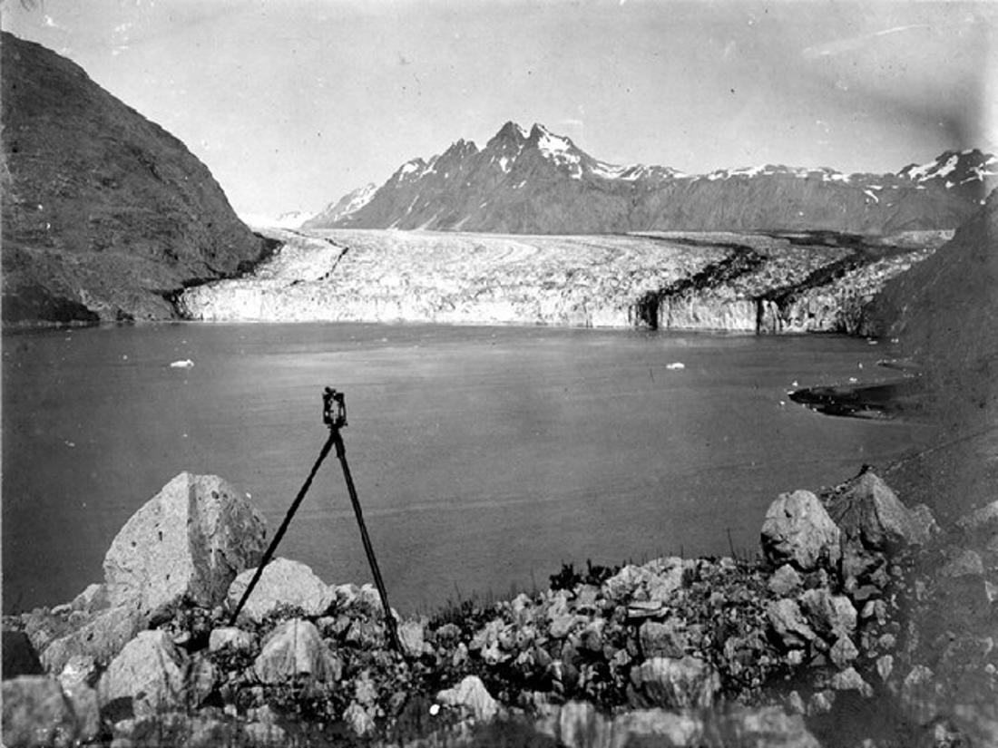 Der Carroll Glacier im Glacier-Bay-Nationalpark, 1906
