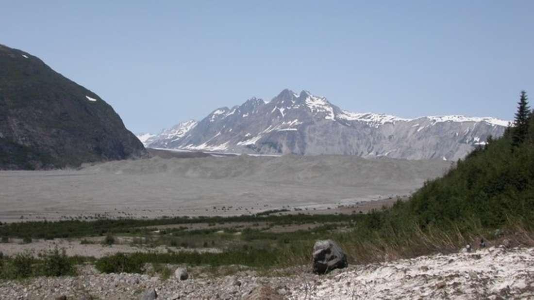 Der Gletscher ist inzwischen eine Geröllwüste