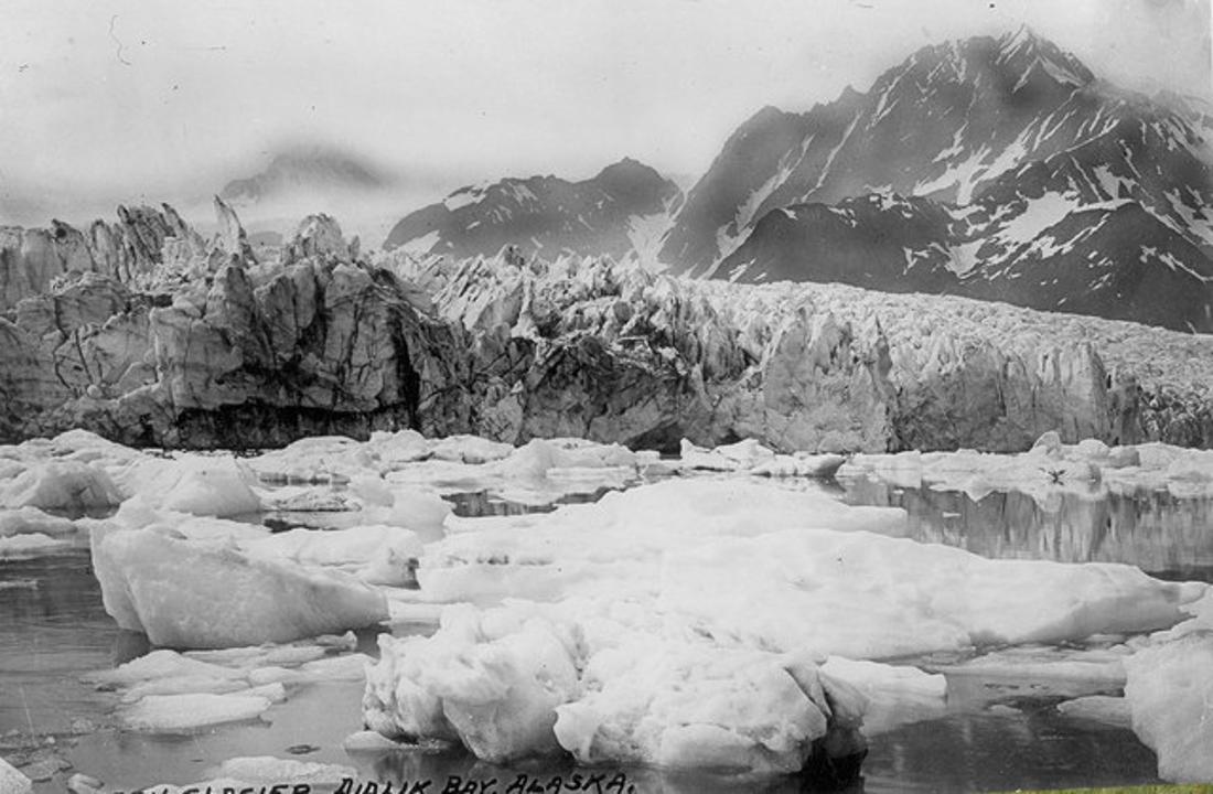 Der eisige Pedersen-Gletscher, Kenai Fjords Nationalpark, 1917