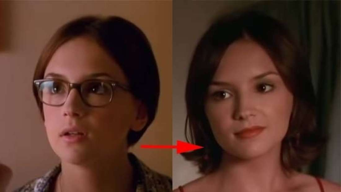 """Laney aus """"Eine wie keine"""", einmal mit und einmal ohne Brille."""