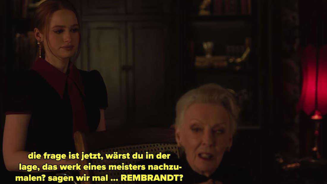 Nana Rose fragt Cheryl, ob sie auch einen Rembrandt faken könnte.