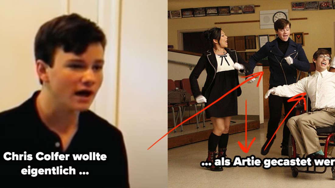 Chris Colfer beim Vorsprechen für die Rolle des Artie