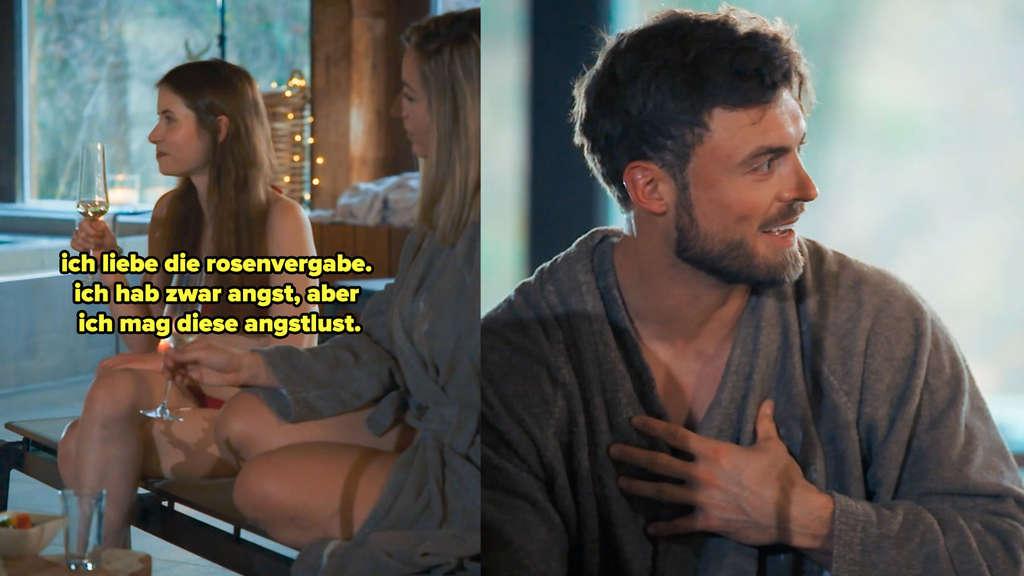 Esther erzählt, an der Nacht der Rosen errege sie die Angstlust; Niko schaut überrascht