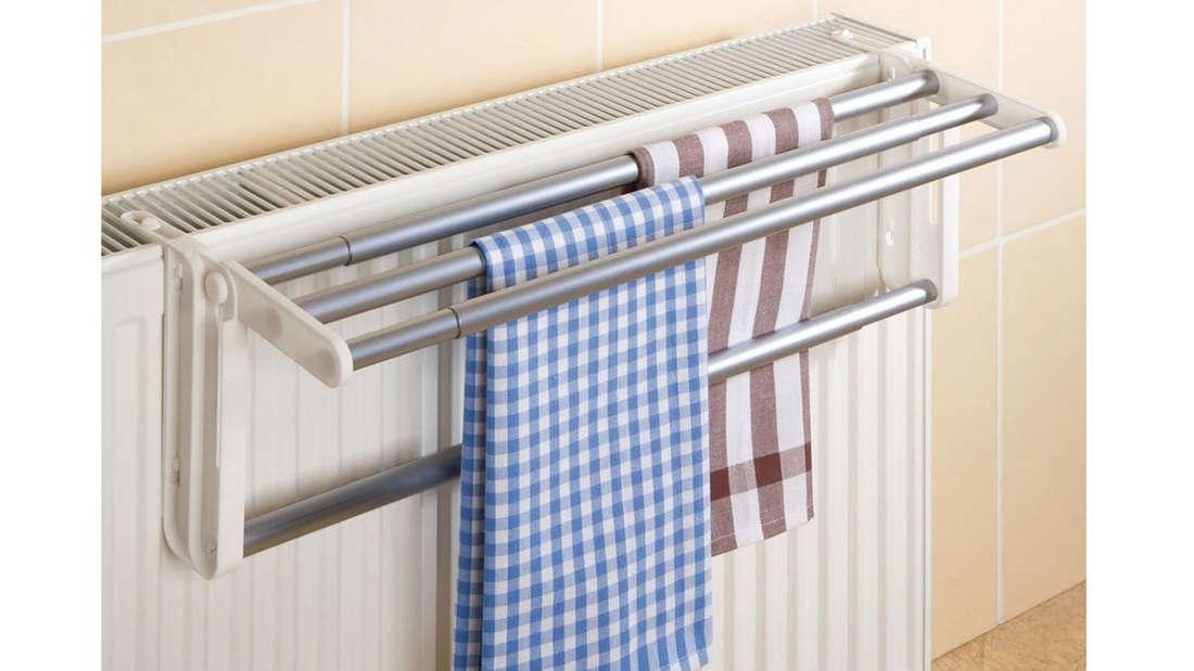 Heizkörper-Wäschetrockner zum Einhängen an der Heizung.