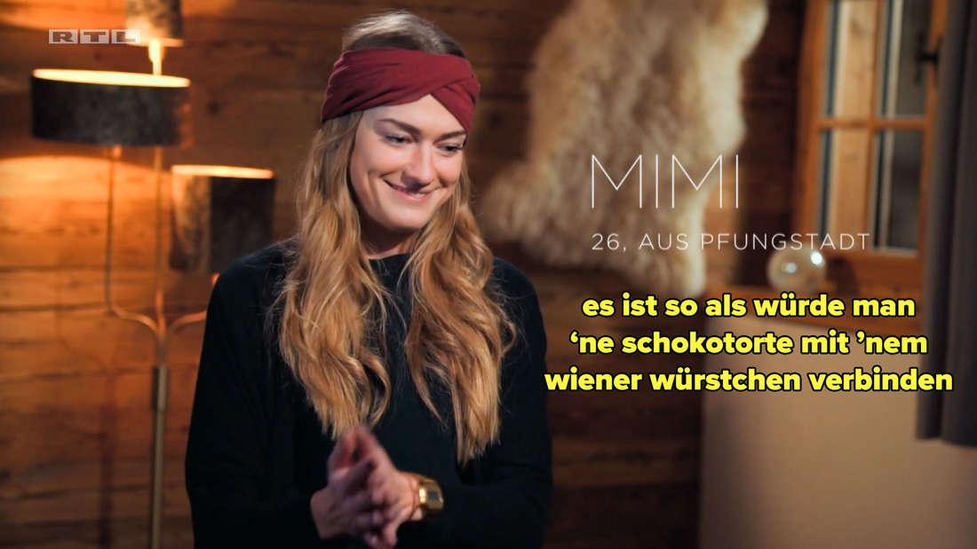 Mimi sagt, ein Date mit ihr und Michèle sei wie Schokotorte und Wiener Würstchen zu verbinden