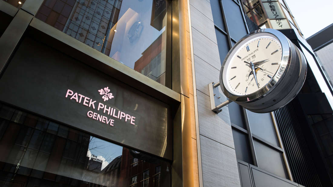 Ein Geschäft der Marke Patek Philippe.