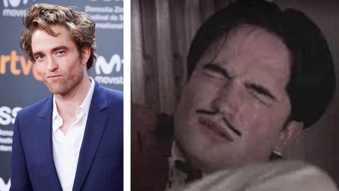"""Robert Pattinson auf dem roten Teppich und Robert Pattinson bei einem Orgasmus im Film """"Little Ashes"""""""