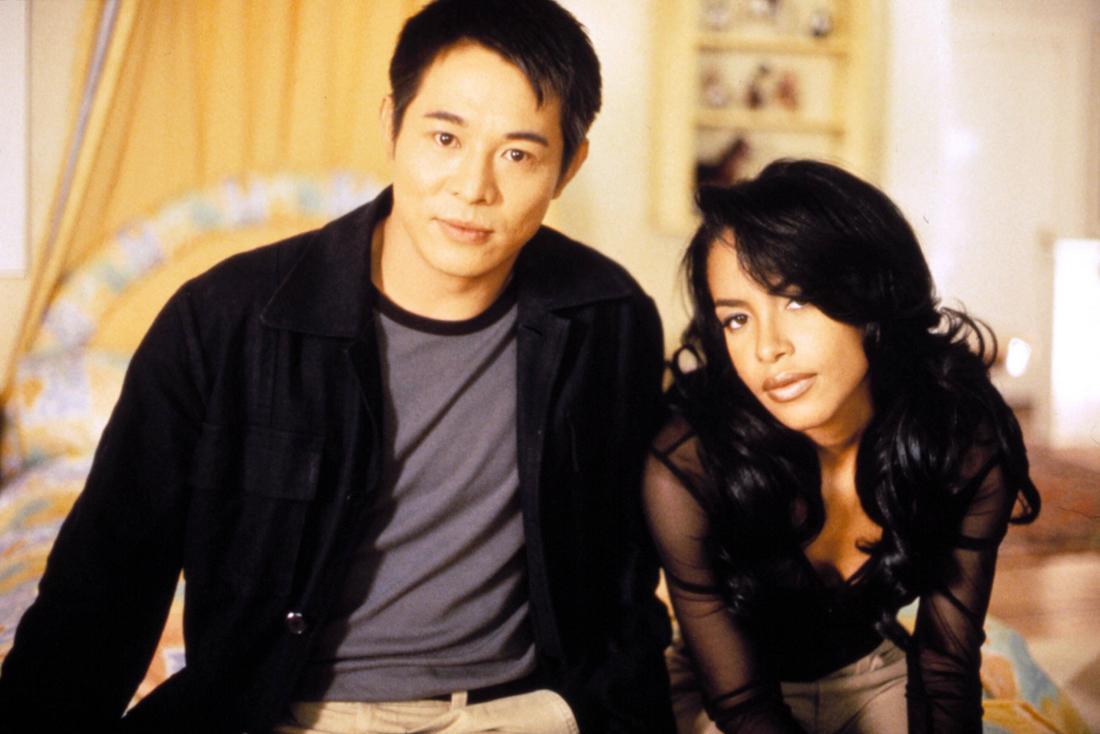 """Aaliyah mit Jet Li Pressefoto für den Film """"Romeo must die"""" (2000)"""